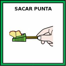 SACAR PUNTA - Pictograma (color)