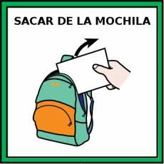 SACAR DE LA MOCHILA - Pictograma (color)