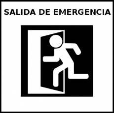SALIDA DE EMERGENCIA - Pictograma (blanco y negro)