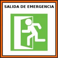 SALIDA DE EMERGENCIA - Pictograma (color)