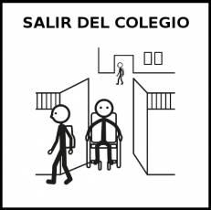 SALIR DEL COLEGIO - Pictograma (blanco y negro)