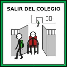 SALIR DEL COLEGIO - Pictograma (color)