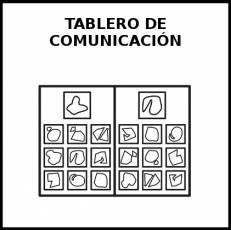 TABLERO DE COMUNICACIÓN - Pictograma (blanco y negro)