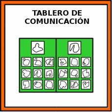 TABLERO DE COMUNICACIÓN - Pictograma (color)