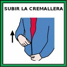 SUBIR LA CREMALLERA - Pictograma (color)