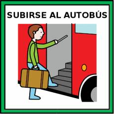SUBIRSE AL AUTOBÚS - Pictograma (color)