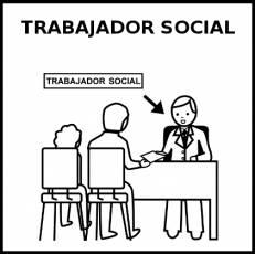 TRABAJADOR SOCIAL - Pictograma (blanco y negro)