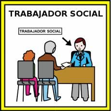 TRABAJADOR SOCIAL - Pictograma (color)