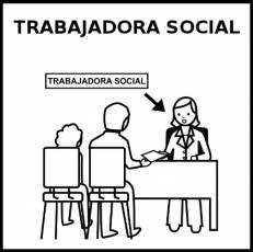 TRABAJADORA SOCIAL - Pictograma (blanco y negro)