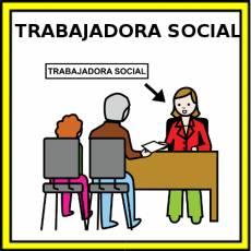 TRABAJADORA SOCIAL - Pictograma (color)
