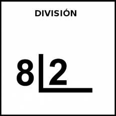 DIVISIÓN - Pictograma (blanco y negro)