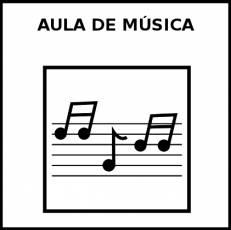 AULA DE MÚSICA - Pictograma (blanco y negro)