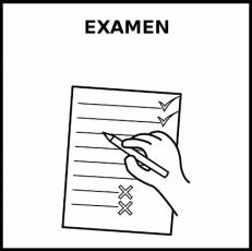 EXAMEN - Pictograma (blanco y negro)