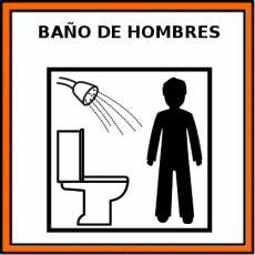 BAÑO DE HOMBRES - Pictograma (color)