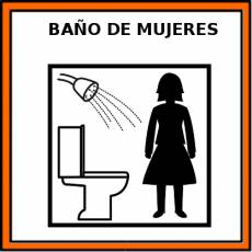 BAÑO DE MUJERES - Pictograma (color)