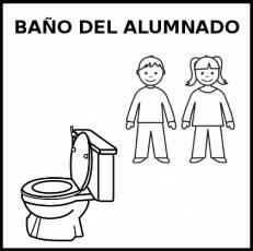 BAÑO DEL ALUMNADO - Pictograma (blanco y negro)