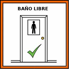 BAÑO LIBRE - Pictograma (color)