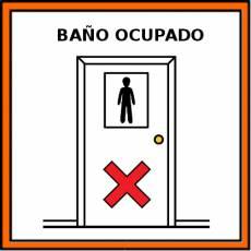 BAÑO OCUPADO - Pictograma (color)