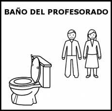 BAÑO DEL PROFESORADO - Pictograma (blanco y negro)