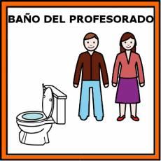 BAÑO DEL PROFESORADO - Pictograma (color)