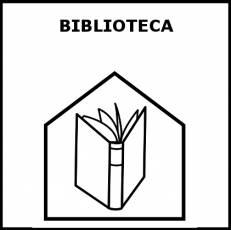 BIBLIOTECA - Pictograma (blanco y negro)