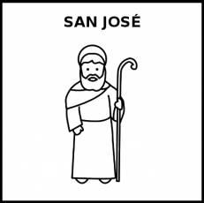 SAN JOSÉ - Pictograma (blanco y negro)