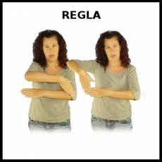 REGLA (MEDIDA) - Signo