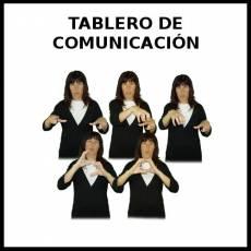 TABLERO DE COMUNICACIÓN - Signo