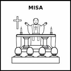 MISA - Pictograma (blanco y negro)