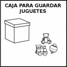 CAJA PARA GUARDAR JUGUETES - Pictograma (blanco y negro)