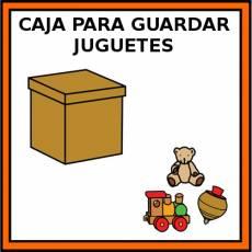 CAJA PARA GUARDAR JUGUETES - Pictograma (color)