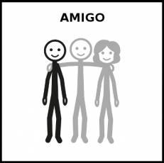 AMIGO - Pictograma (blanco y negro)