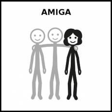 AMIGA - Pictograma (blanco y negro)