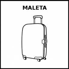 MALETA - Pictograma (blanco y negro)