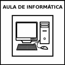 AULA DE INFORMÁTICA - Pictograma (blanco y negro)