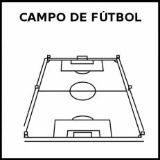 CAMPO DE FÚTBOL - Pictograma (blanco y negro)
