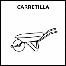 CARRETILLA - Pictograma (blanco y negro)