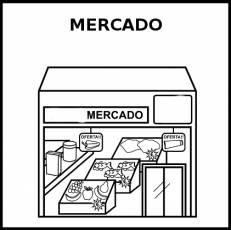 MERCADO - Pictograma (blanco y negro)