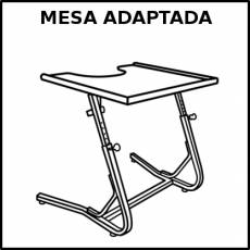 MESA ADAPTADA - Pictograma (blanco y negro)