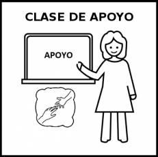 CLASE DE APOYO - Pictograma (blanco y negro)