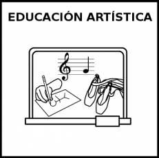 EDUCACIÓN ARTÍSTICA - Pictograma (blanco y negro)