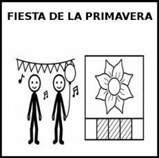 FIESTA DE LA PRIMAVERA - Pictograma (blanco y negro)