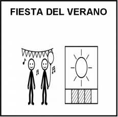 FIESTA DEL VERANO - Pictograma (blanco y negro)