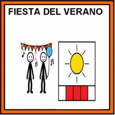 FIESTA DEL VERANO - Pictograma (color)