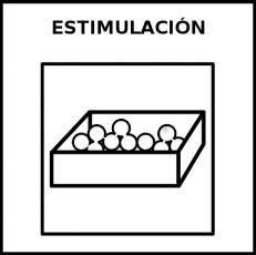 ESTIMULACIÓN - Pictograma (blanco y negro)