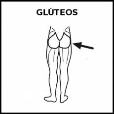 GLÚTEOS - Pictograma (blanco y negro)