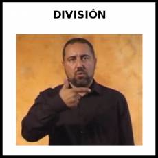 DIVISIÓN - Signo