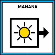 MAÑANA - Pictograma (color)