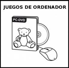 JUEGOS DE ORDENADOR - Pictograma (blanco y negro)