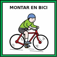 MONTAR EN BICI - Pictograma (color)